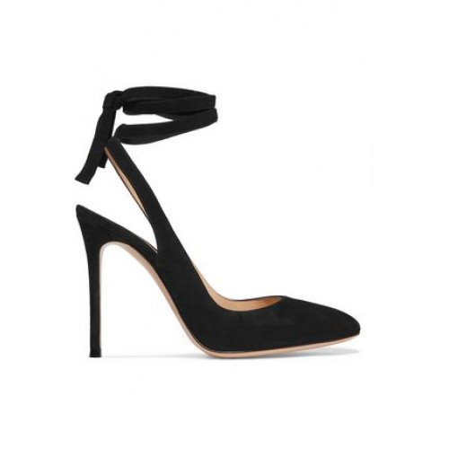 GIANVITO ROSSI Lace-up suede slingback pumps Suede 5016545970075255 WYVSQLI