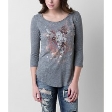 Daytrip Steer Top Distressed graphic triblend top 2773048336A001 NBUMGOA