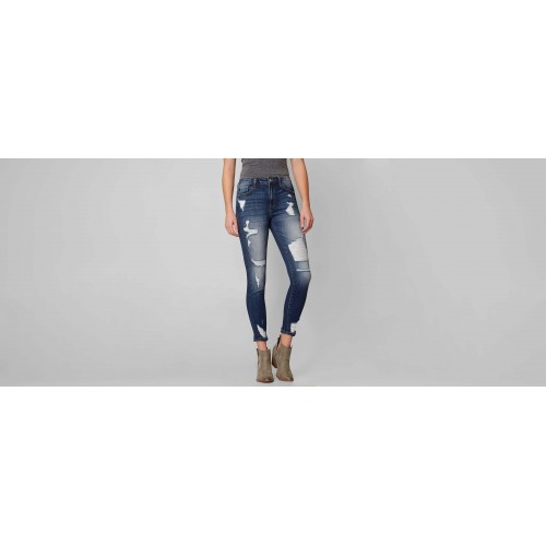 KanCan High Rise Ankle Skinny Stretch Jean High rise zip fly stretch jean 48177VBK1295A IQPUPOF